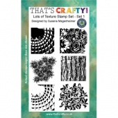 That's Crafty! Clear Stamp Set - Random Artist 222 - Lots of Textures Set 1