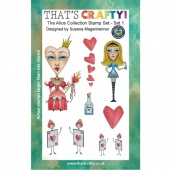 That's Crafty! Clear Stamp Set - Random Artist 222 - The Alice Collection Set 1