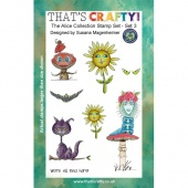 That's Crafty! Clear Stamp Set - Random Artist 222 - The Alice Collection Set 3