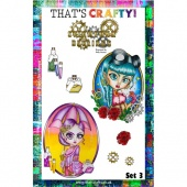 That's Crafty! Clear Stamp Set - Steampunk Darlings Set 3
