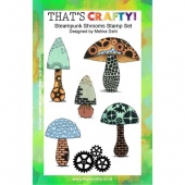 That's Crafty! Clear Stamp Set - Steampunk Shrooms