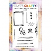That's Crafty! Clear Stamp Set - Lynne's Mark Making Stamps - Set 2