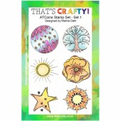 That's Crafty! Clear Stamp Set - ATCoins Stamp Set - Set 1