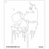 That's Crafty! 6.5ins x 7.5ins Stencil - Drippy Skull - TC7014