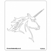 That's Crafty! 6.5ins x 7.5ins Stencil - Unicorn - TC7010