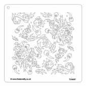 That's Crafty! 8ins x 8ins Stencil - Acanthus - TC8057