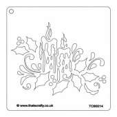 That's Crafty! 6ins x 6ins Stencil - Christmas Candle - TC66014