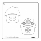 That's Crafty! 6ins x 6ins Stencil - Christmas Cottages - TC66015