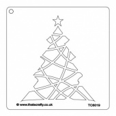 That's Crafty! 6ins x 6ins Stencil - Christmas Tree - TC66019