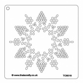 That's Crafty! 6ins x 6ins Stencil - Dotty Snowflake - TC66018