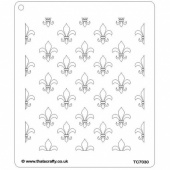 That's Crafty! 6.5ins x 7.5ins Stencil - Fleur de Lys - TC7030