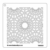 That's Crafty! 6ins x6ins Stencil - Lace - TC60023