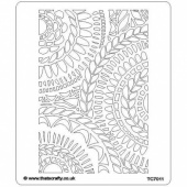 That's Crafty! 6.5ins x 7.5ins Stencil - Leaf Spirals - TC7011