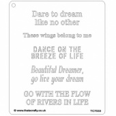 That's Crafty! 6.5ins x 7.5ins Stencil - Lynne's Affirmations 3 - TC7033