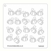 That's Crafty! 6ins x6ins Stencil - Pumpkins - TC60025