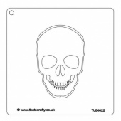 That's Crafty! 6ins x6ins Stencil - Skull - TC60022