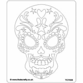 That's Crafty! 6.5ins x 7.5ins Stencil - Sugar Skull - TC7008