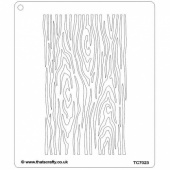 That's Crafty! 6.5ins x 7.5ins Stencil - Tree Bark - TC7023