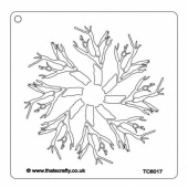 That's Crafty! 6ins x 6ins Stencil - Tree Snowflake - TC66017