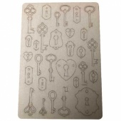 That's Crafty! Surfaces Bits and Pieces Greyboard Sheet - Keys and Locks