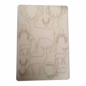 That's Crafty! Surfaces Bits and Pieces Greyboard Sheet - Reindeer