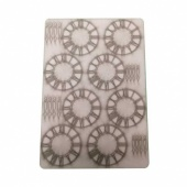 That's Crafty! Surfaces Bits and Pieces Greyboard Sheet - Small Grunge Clocks
