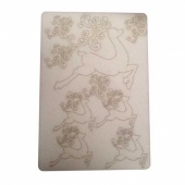 That's Crafty! Surfaces Bits and Pieces Greyboard Sheet - Swirly Reindeer