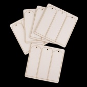 That's Crafty! Surfaces White/Greyboard Long Tags Pack - Pack of 15