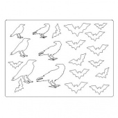 That's Crafty! Surfaces Craftyboard - Bats and Crows