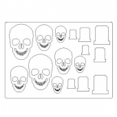 That's Crafty! Surfaces Craftyboard - Skulls and Tombstones