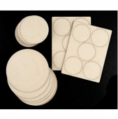 That's Crafty! Surfaces Greyboard Rounds Pack - Pack of 30