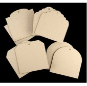 That's Crafty! Surfaces Greyboard Tags Pack - Pack of 8
