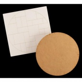 That's Crafty! Surfaces MDF Round with Inchies, Twinchies & Dominoes Craftyboard Topper