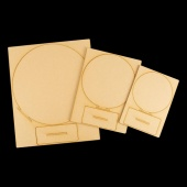 That's Crafty! Surfaces MDF Round Uprights - Pack of 3