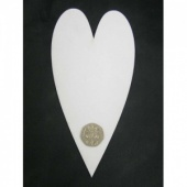 That's Crafty! Surfaces White/Greyboard Hearts - Pack of 6 - #8