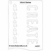 That's Crafty! Word Series Stencil - Create - WS001