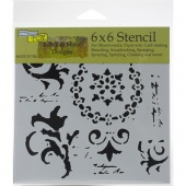 Crafter's Workshop Stencil - Vintage Scrolls - TCW910S