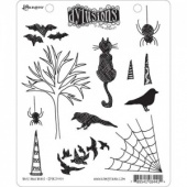 Dylusions Cling Mounted Stamp Set - Bits and Bats