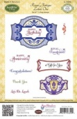 JustRite Cling Mounted Stamp Set - Royal Antique Labels One