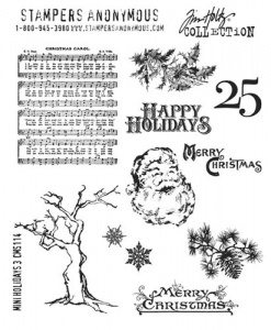 Tim Holtz Cling Mounted Stamp Set - Mini Holidays 3 - CMS114